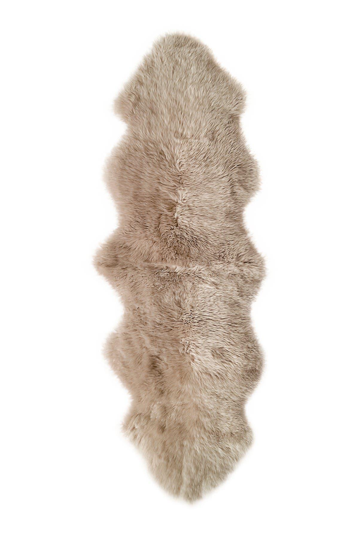 Image of Kinetic New Zealand Genuine Sheepskin Throw - 2ft x 6ft - Taupe