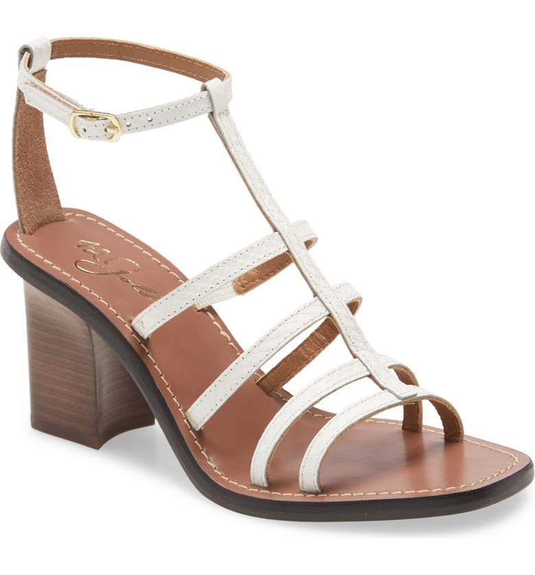 42 GOLD Emilla T-Strap Sandal, Main, color, WHITE LEATHER