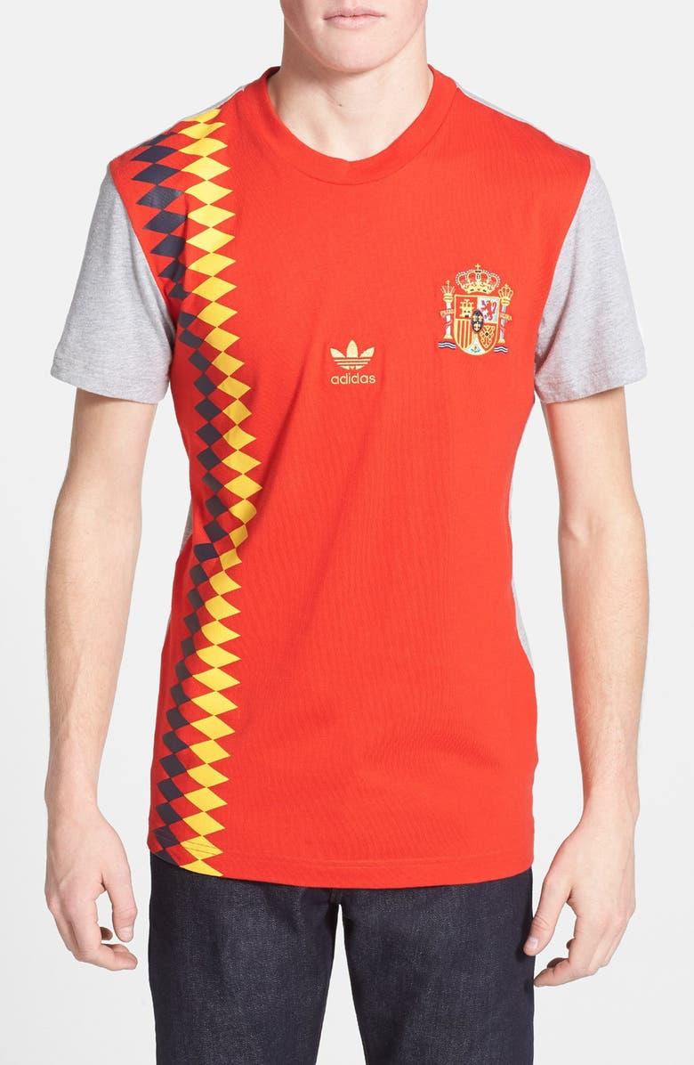 Raramente Incomodidad Parámetros  adidas Originals 'Spain Football' T-Shirt | Nordstrom