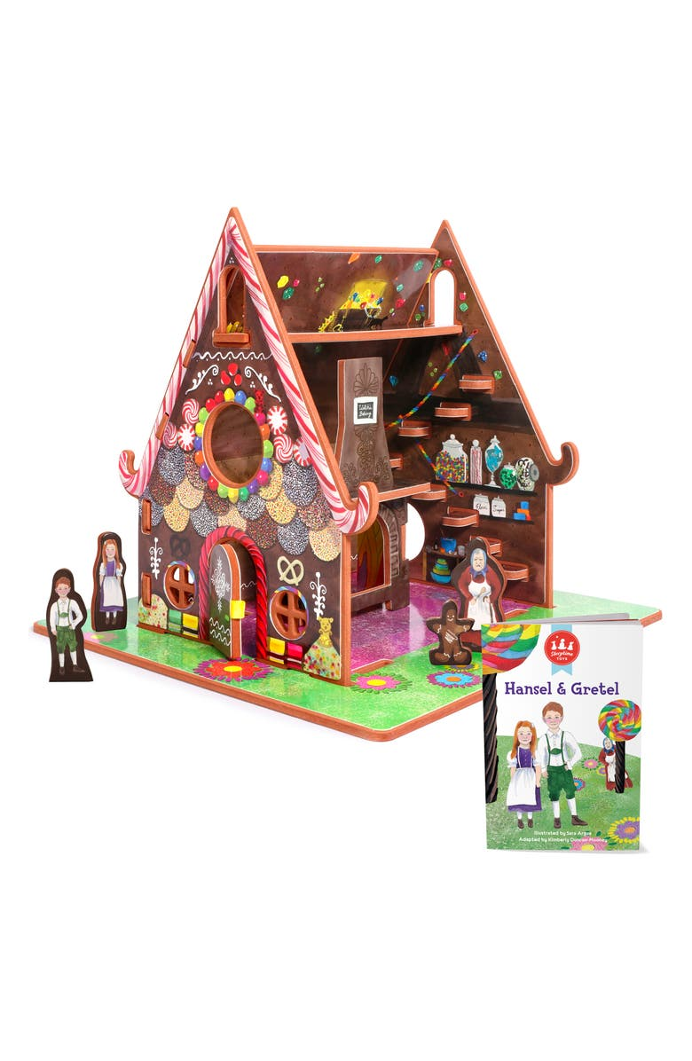 STORYTIME 'Hansel & Gretel' Book & Gingerbread House Play Set, Main, color, 960