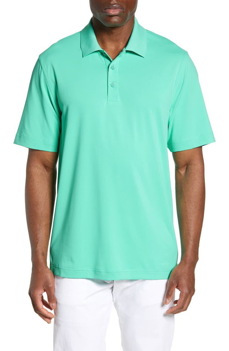 CUTTER & BUCK Forge DryTec Classic Fit Solid Performance Polo, Main, color, FRESH MINT