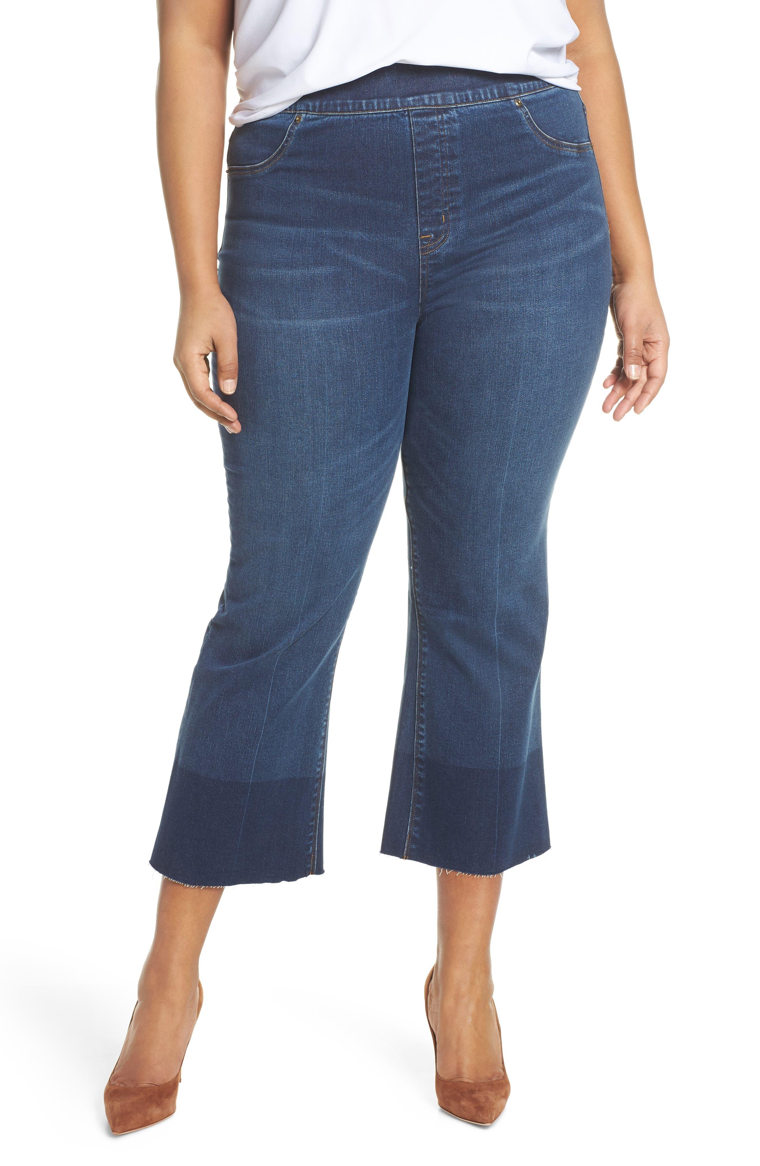 SPANX® Crop Flare Denim Leggings (Plus Size)