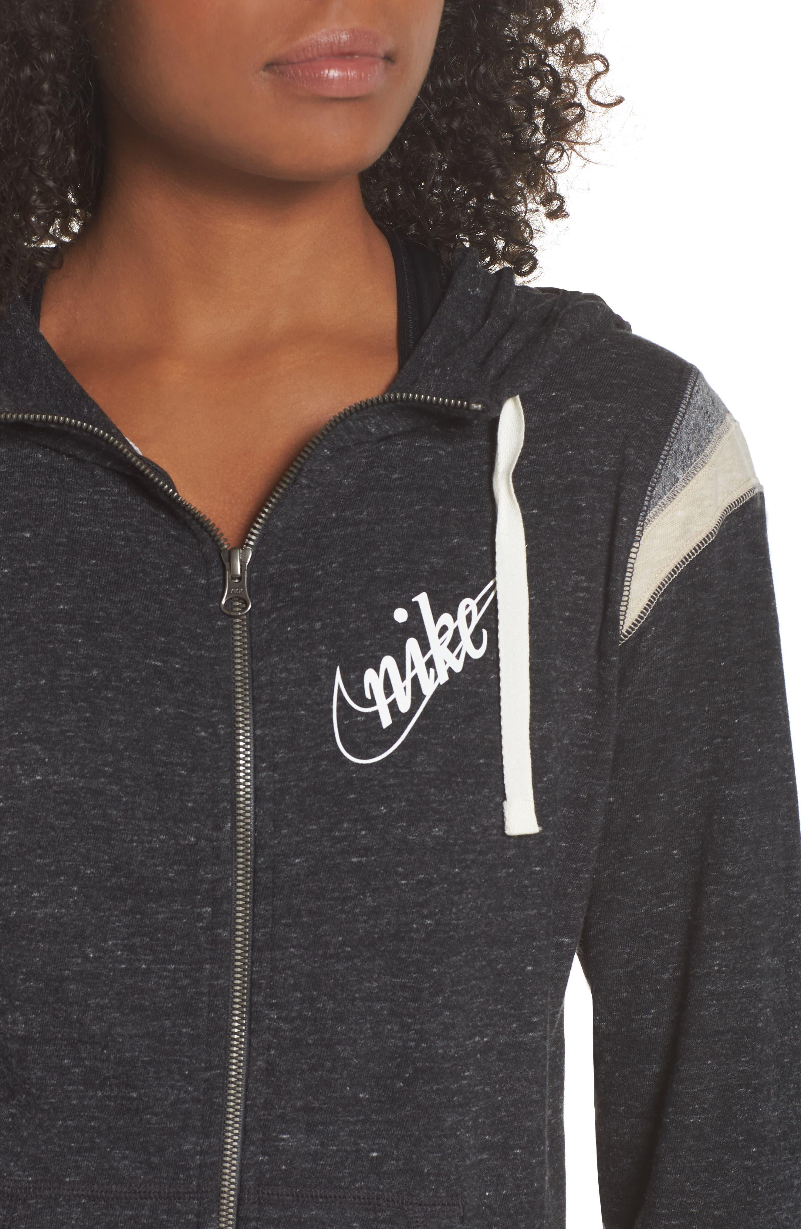 ,                             Sportswear Gym Vintage Zip Hoodie,                             Alternate thumbnail 18, color,                             010