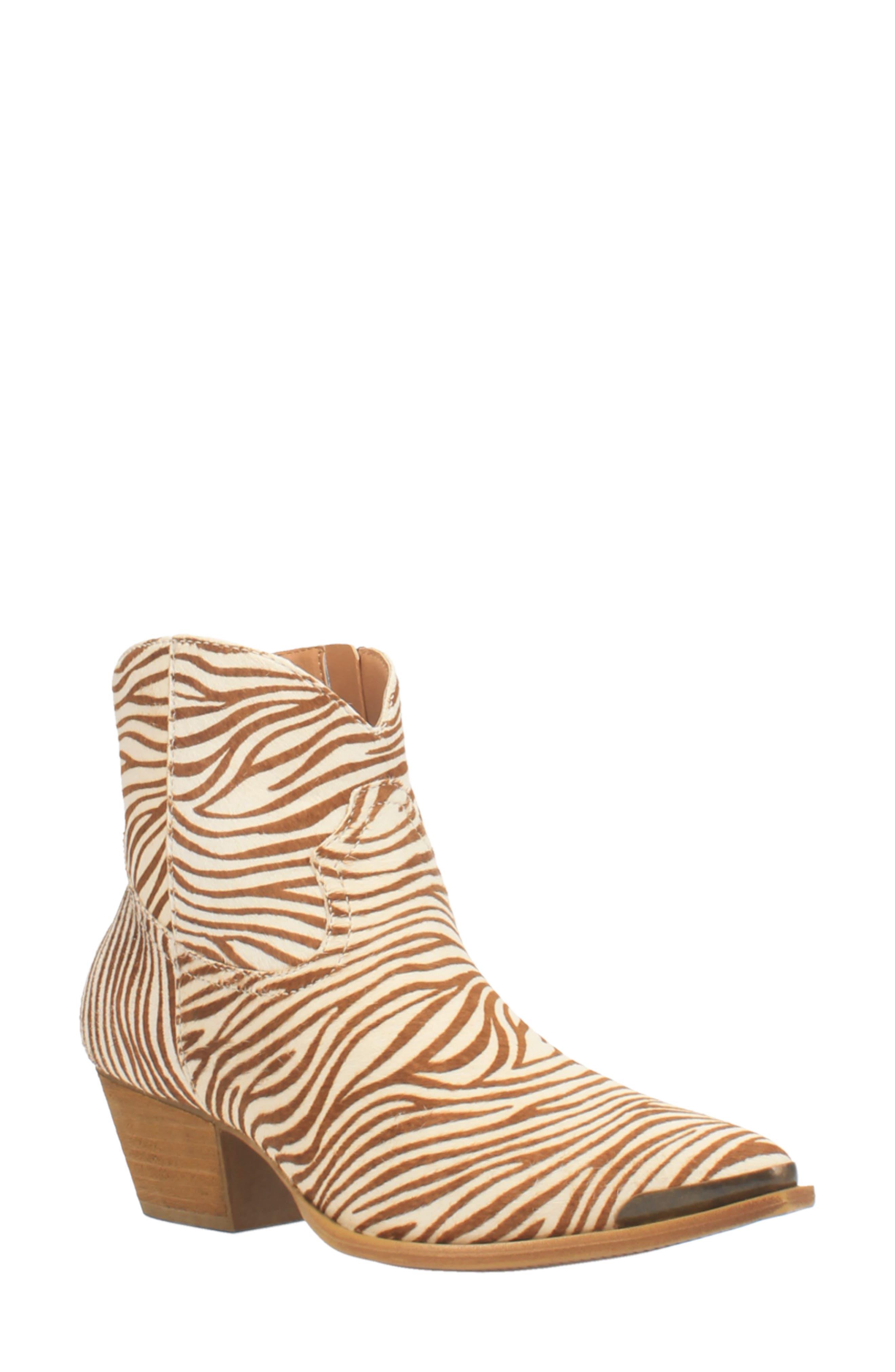 Hairy Up Genuine Calf Hair Western Boot