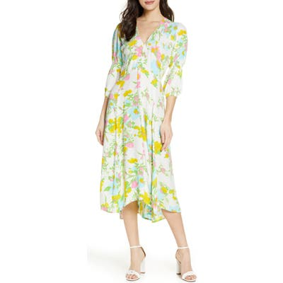 Faithfull The Brand Maud Floral Midi Dress, White