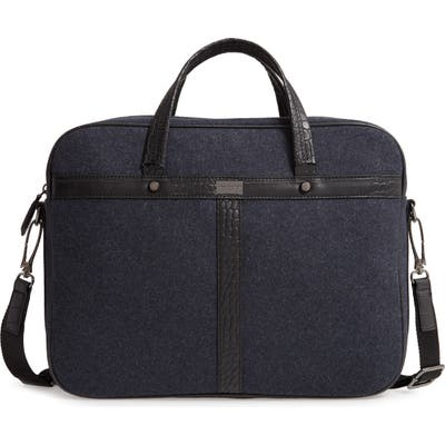 Ted Baker London Farlow Wool Blend Document Bag - Blue