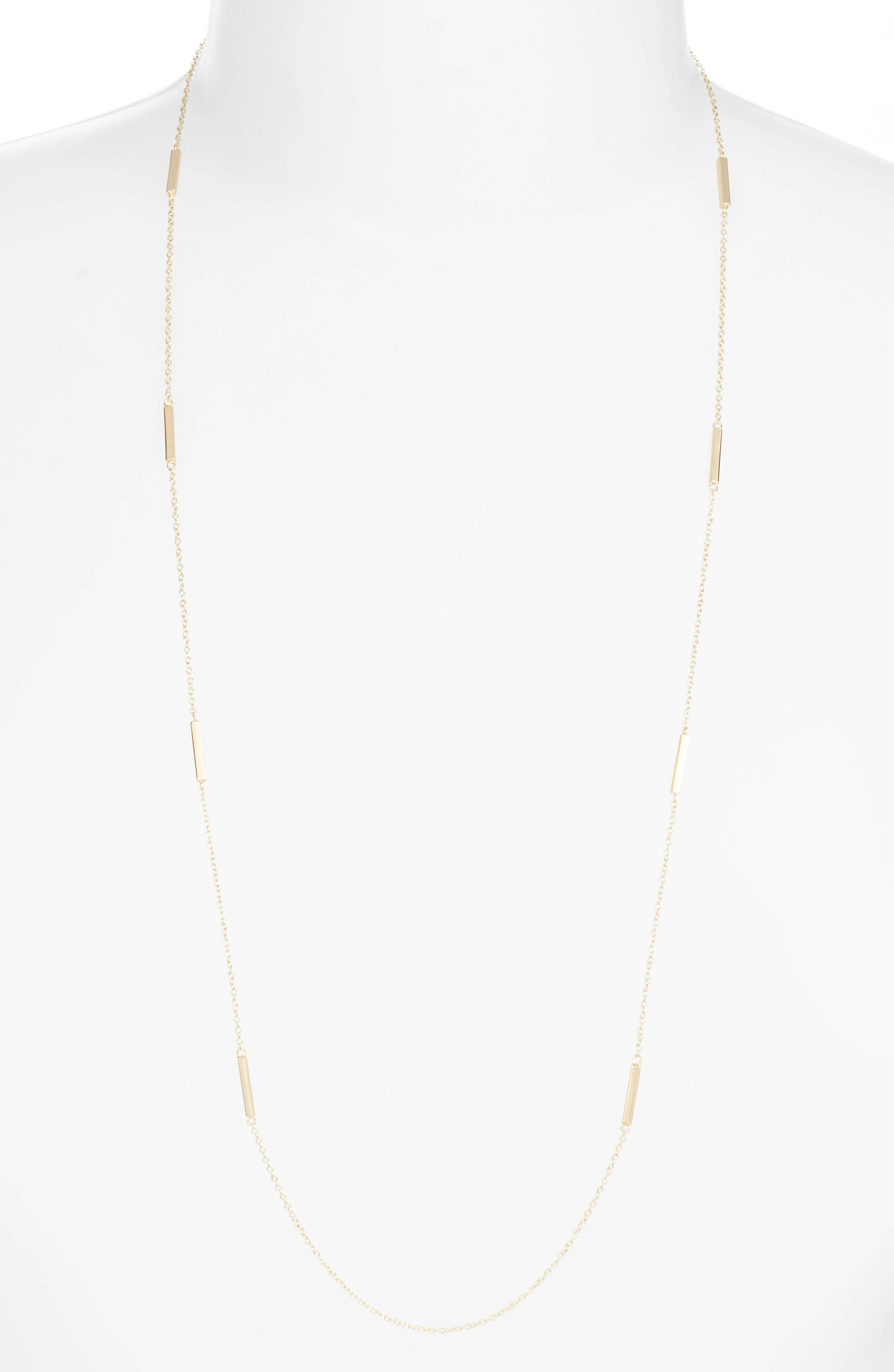 Long Bar Station Necklace