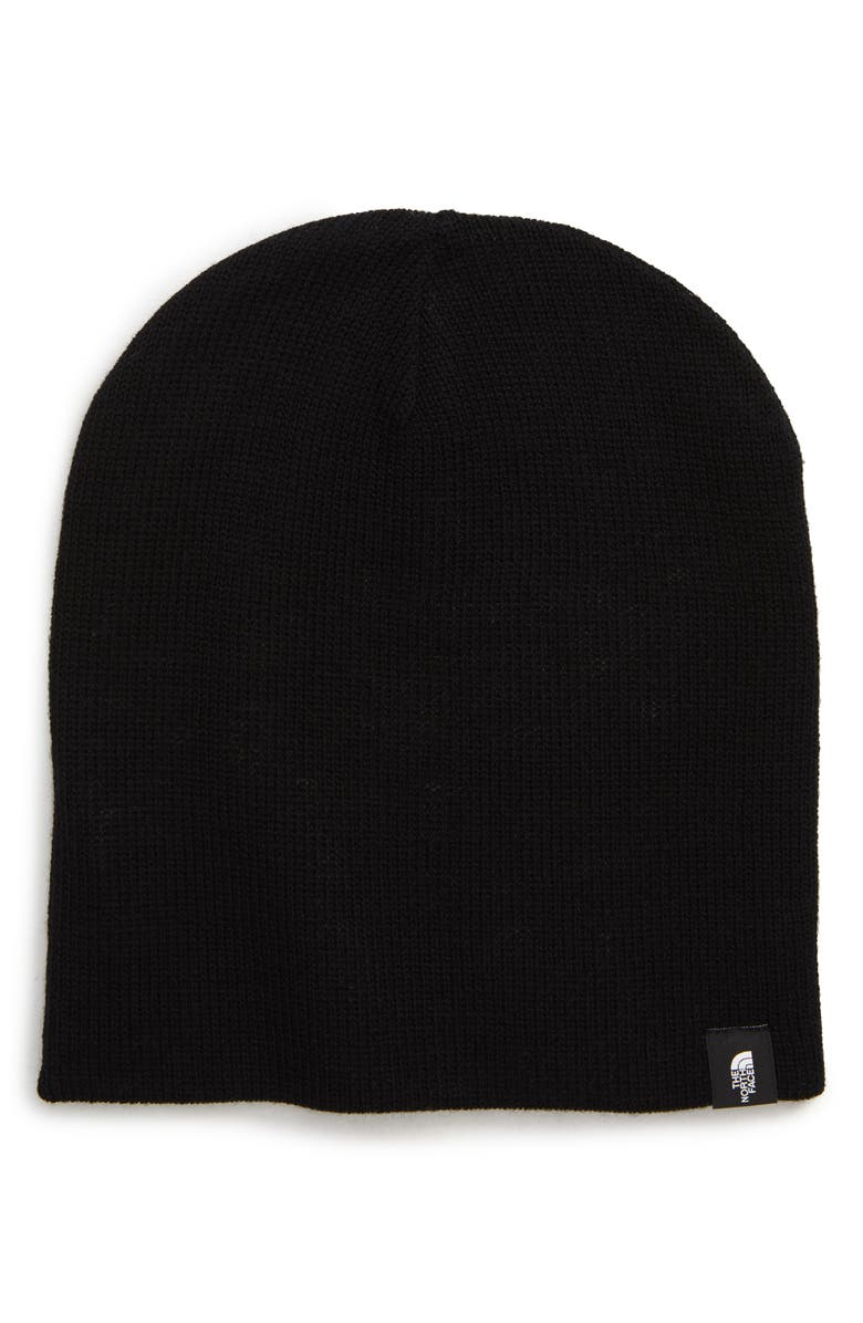 THE NORTH FACE Reversible Merino Wool Beanie, Main, color, BLACK/ LIGHT GREY HEATHER