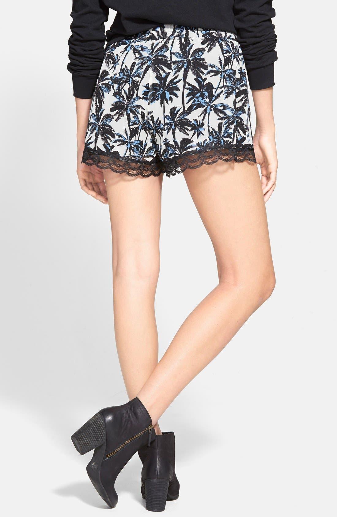 ,                             Lace Trim Floral Print Shorts,                             Alternate thumbnail 34, color,                             902