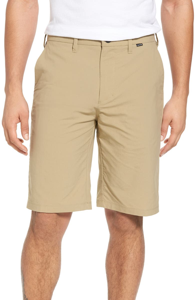 HURLEY 'Dry Out' Dri-FIT<sup>™</sup> Chino Shorts, Main, color, NEW KHAKI