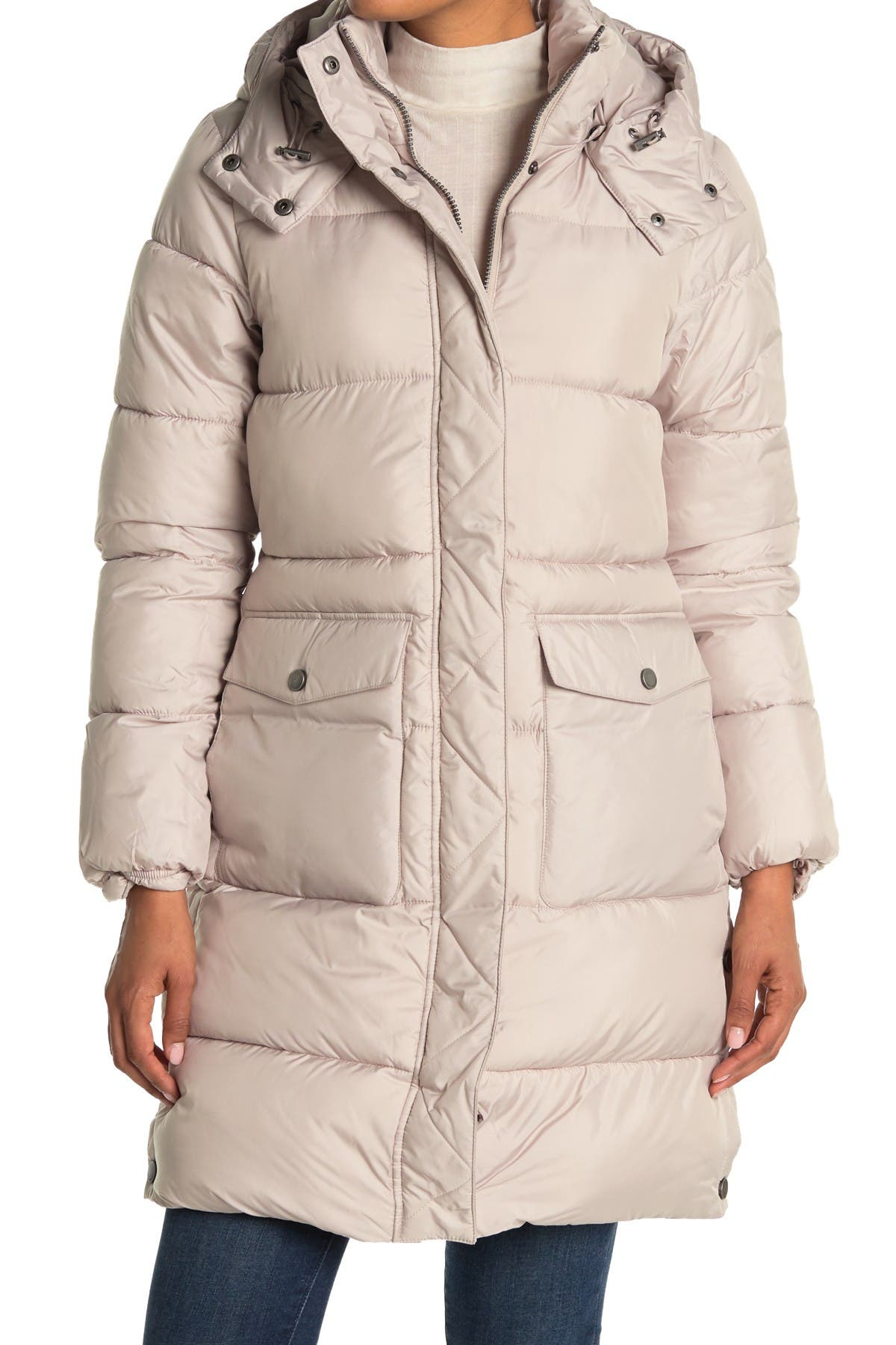 Image of Lucky Brand Missy Hooded Quilted Jacket