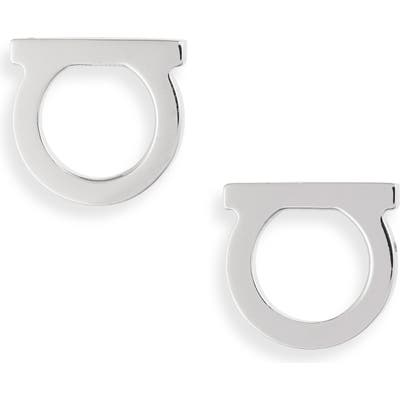 Salvatore Ferragamo Medium Gancio Stud Earrings
