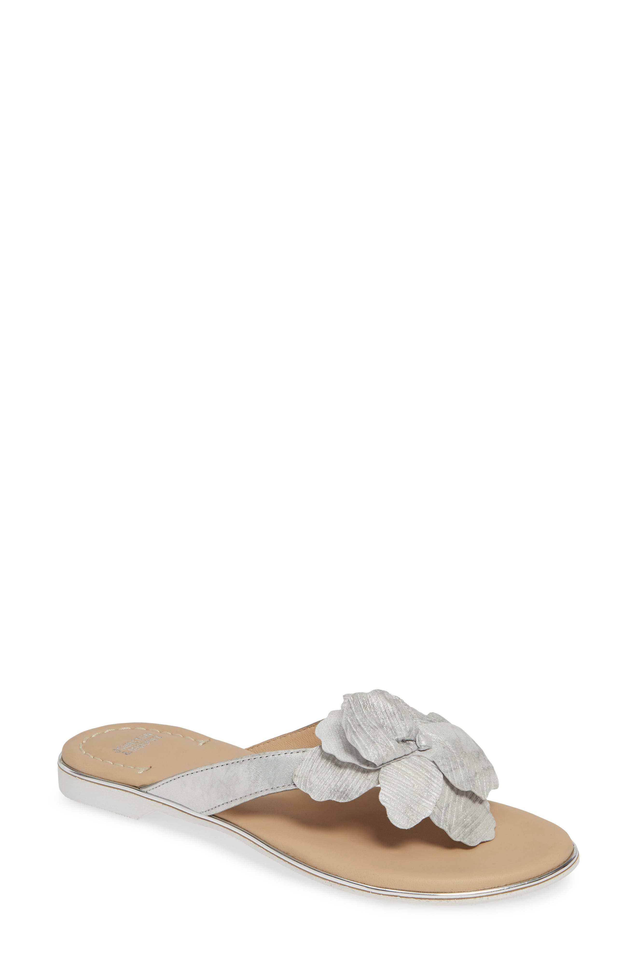 Johnston & Murphy Reanne Flip Flop- Metallic