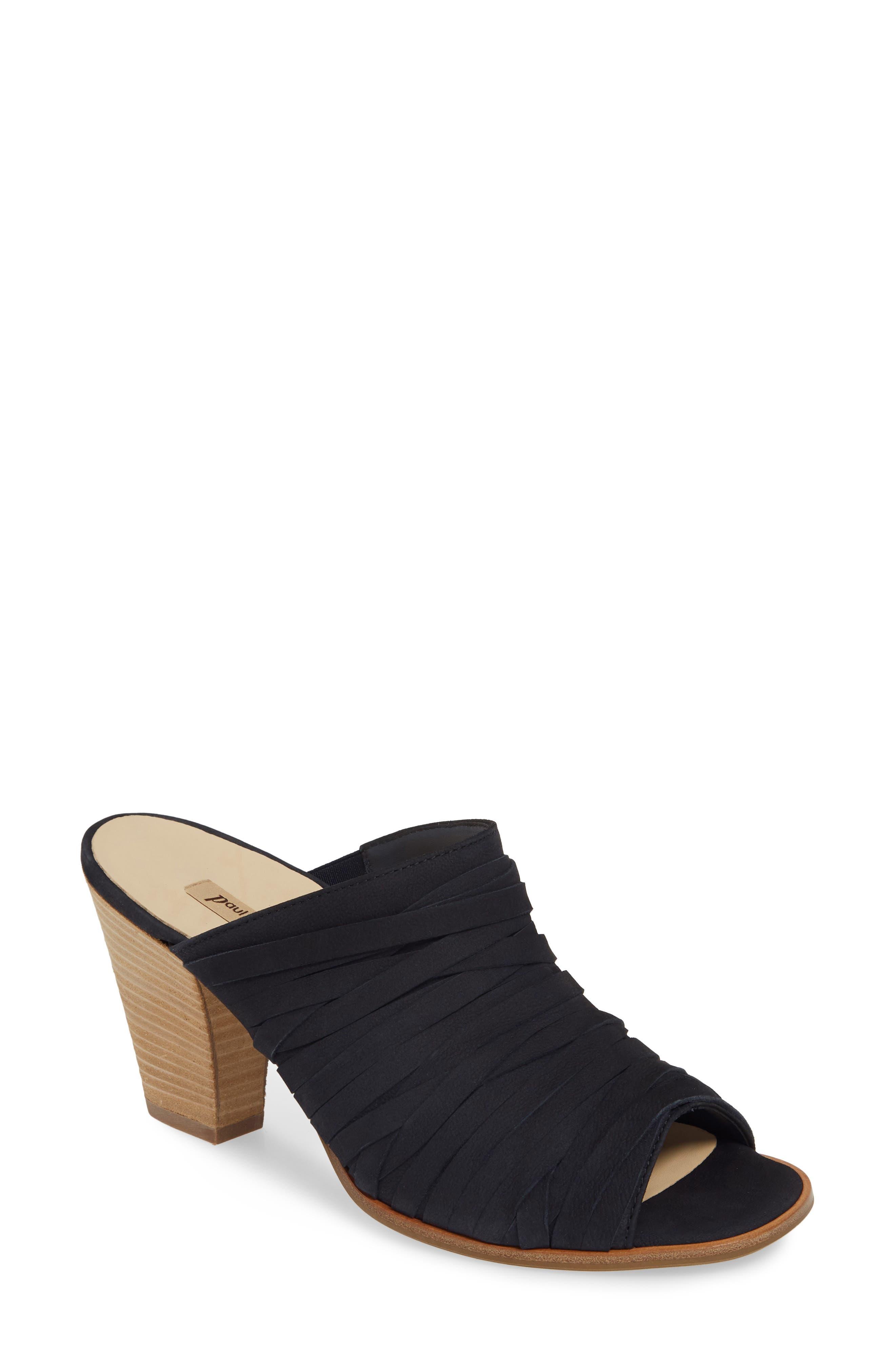 ,                             Avery Strappy Mule Sandal,                             Main thumbnail 1, color,                             BLUE SOFT NUBUCK