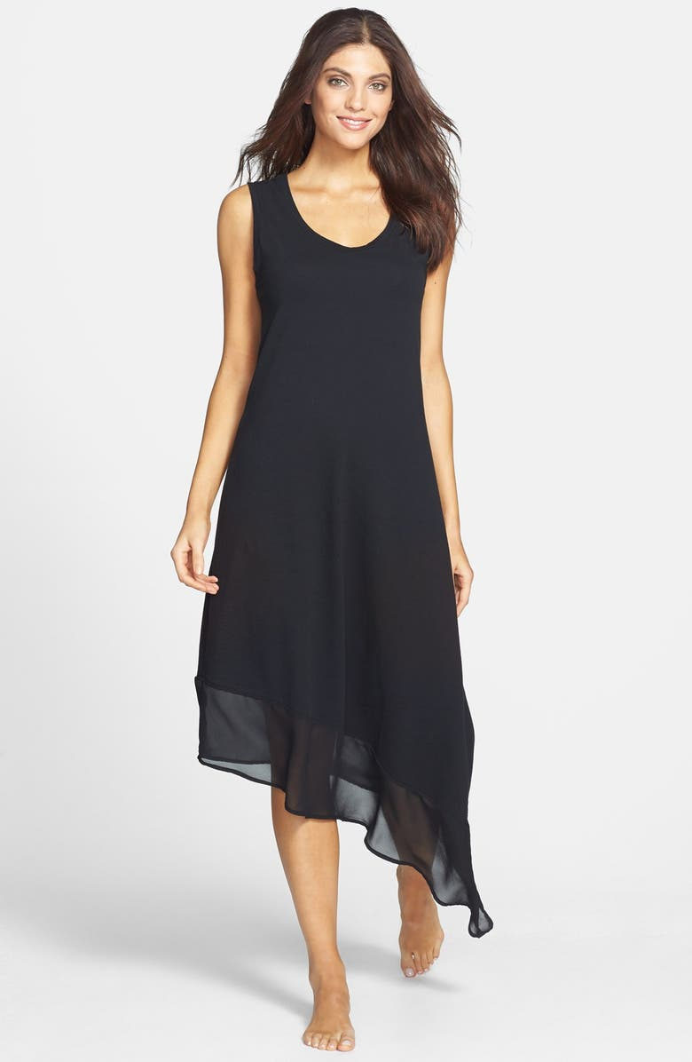 TOMMY BAHAMA High/Low Scoop Neck Cover-Up Dress, Main, color, 001