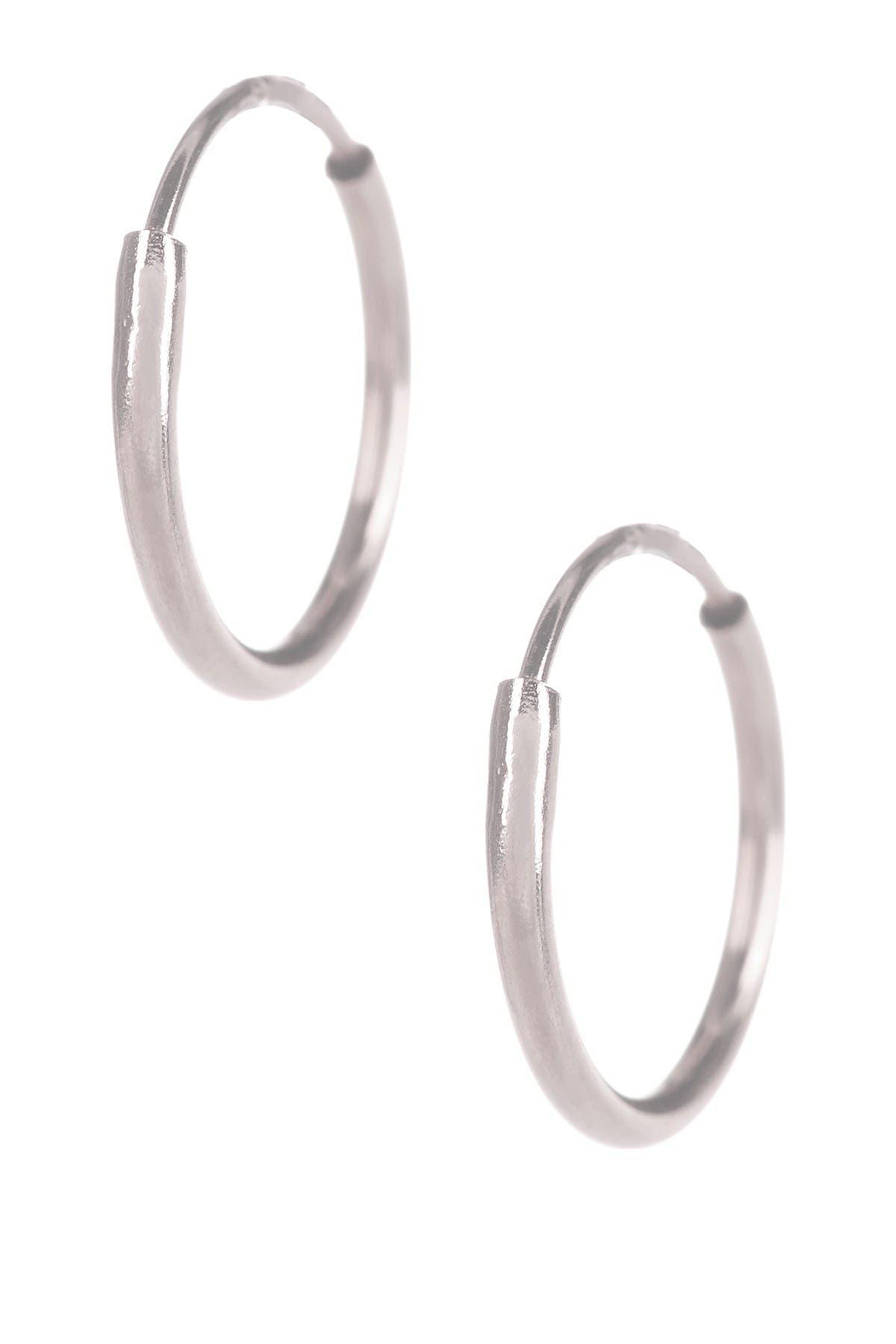 Image of Candela 14K White Gold 10mm Endless Hoop Earrings