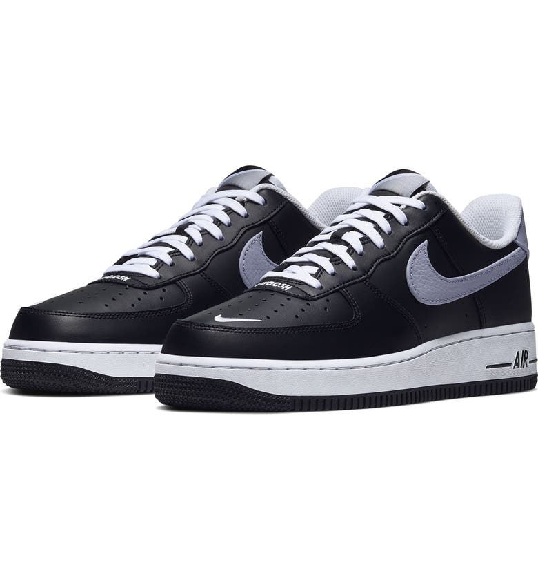 NIKE Air Force 1 '07 LV8 4 Sneaker, Main, color, BLACK/ WHITE/ WOLF GREY