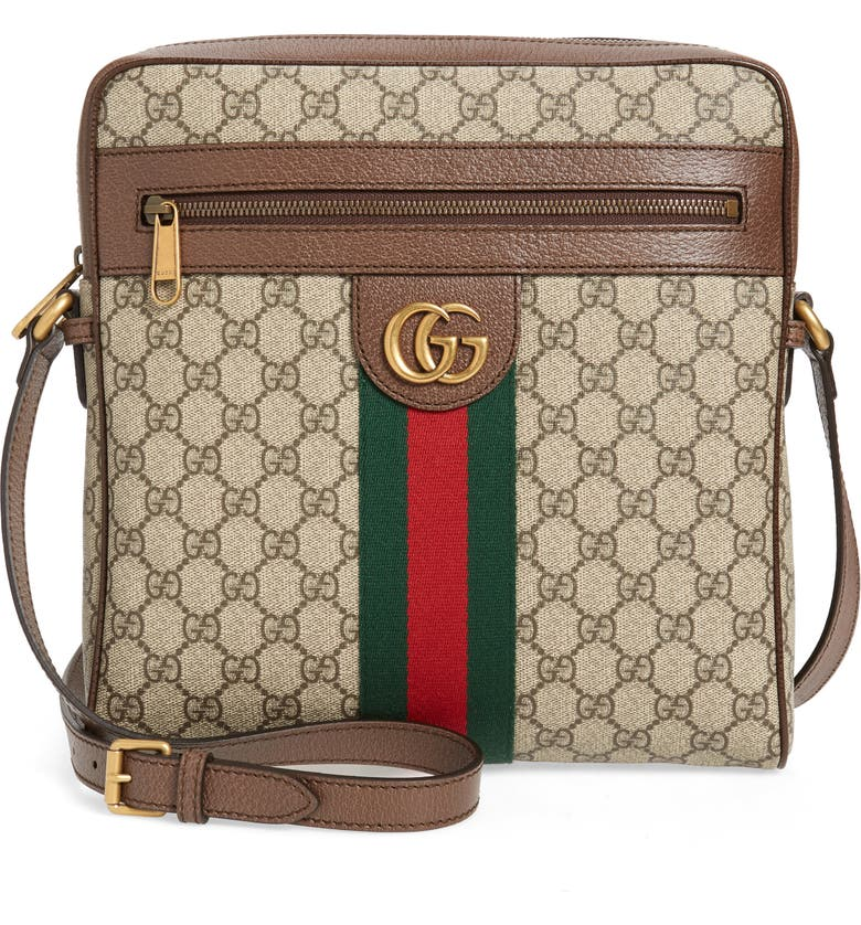 GUCCI Medium Ophidia GG Supreme Messenger Bag, Main, color, 001