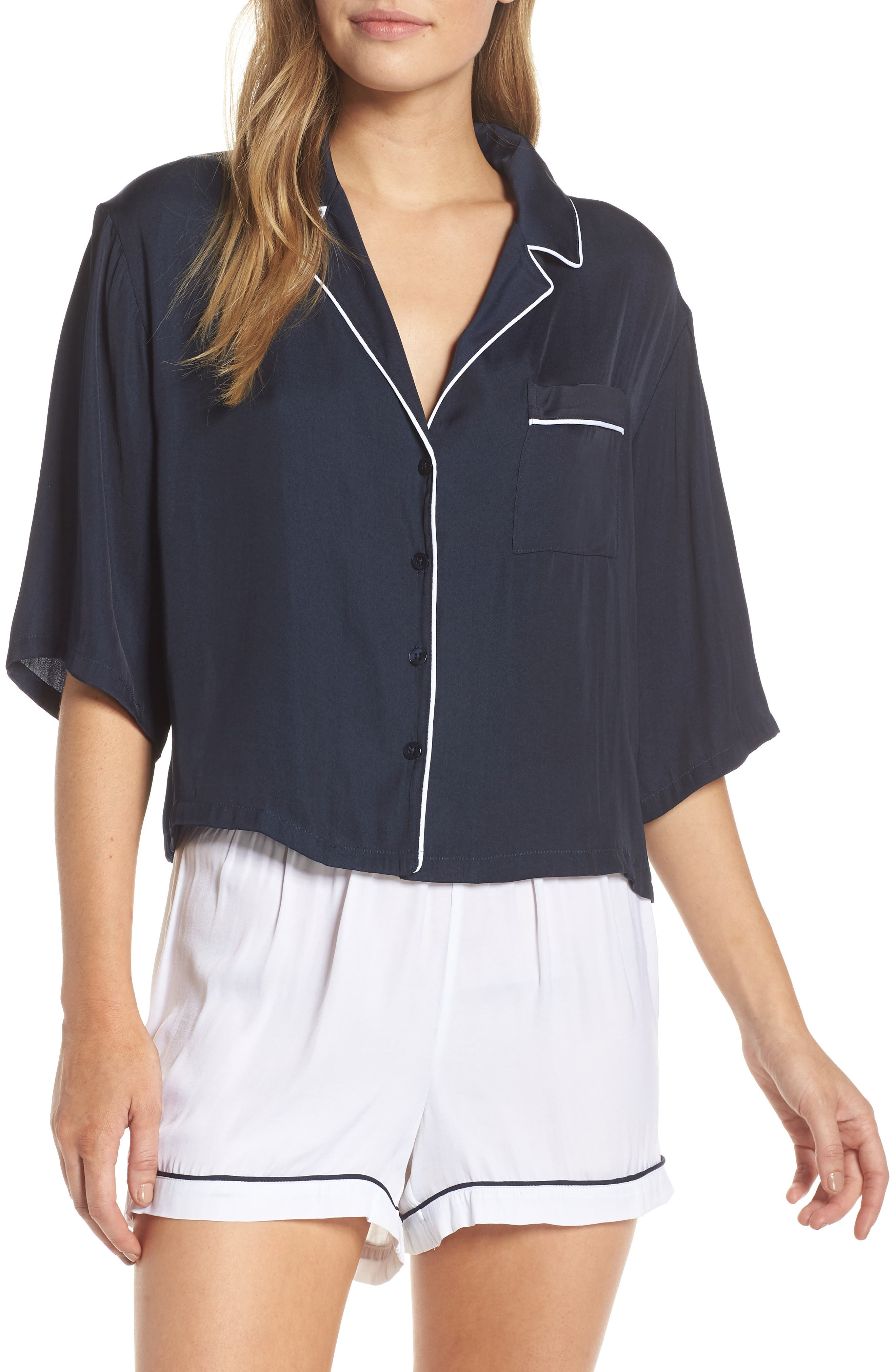 ,                             Short Sleeve PJ Set,                             Main thumbnail 1, color,                             401