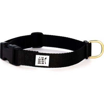 Dog + Bone Snap Collar, Black