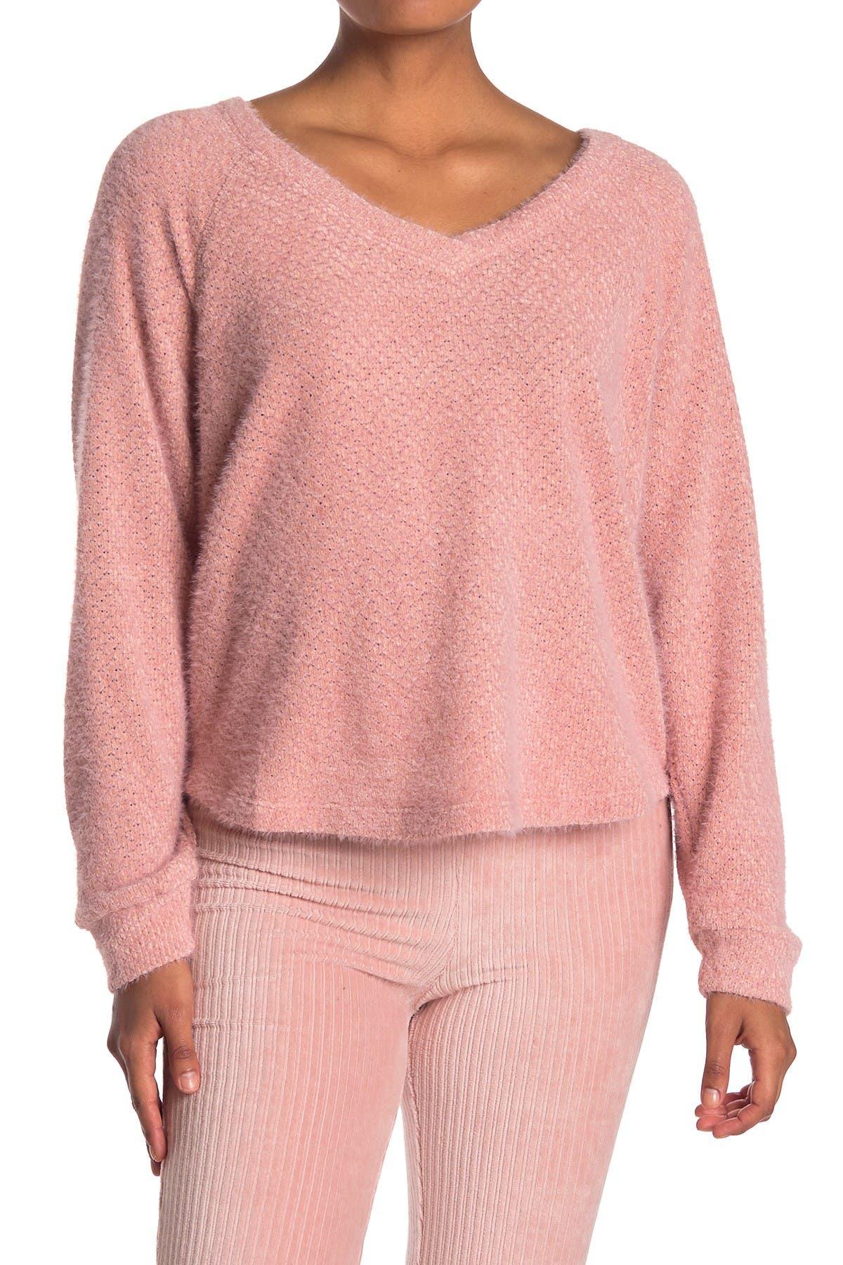 Image of Double Zero V-Neck Textured Sweater