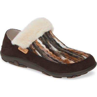 Jambu Perla Faux Fur Convertible Clog, Brown