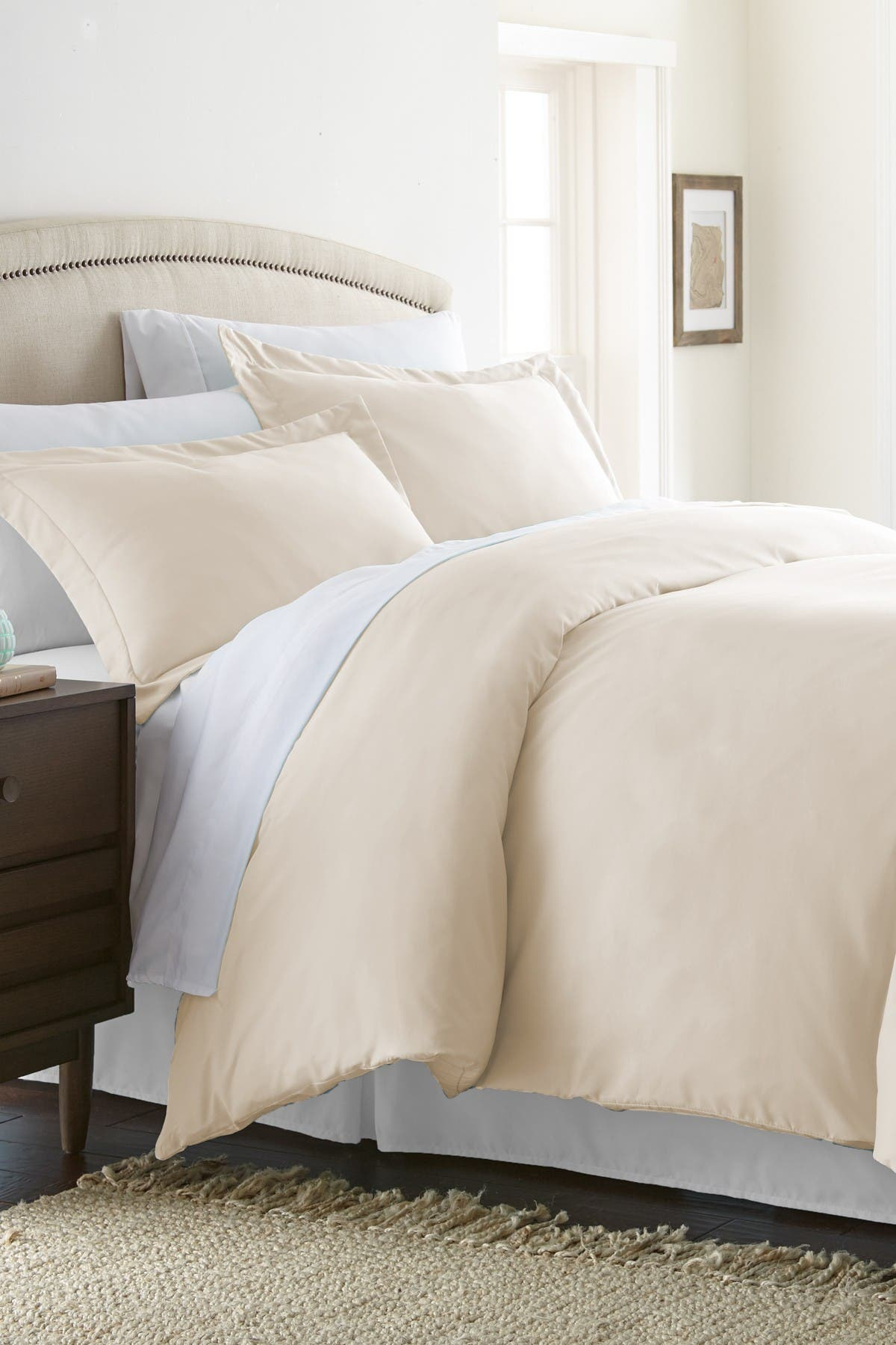 Ienjoy Home Home Collection Premium Ultra Soft 3-piece Full/queen Duvet Cover Set In Ivory