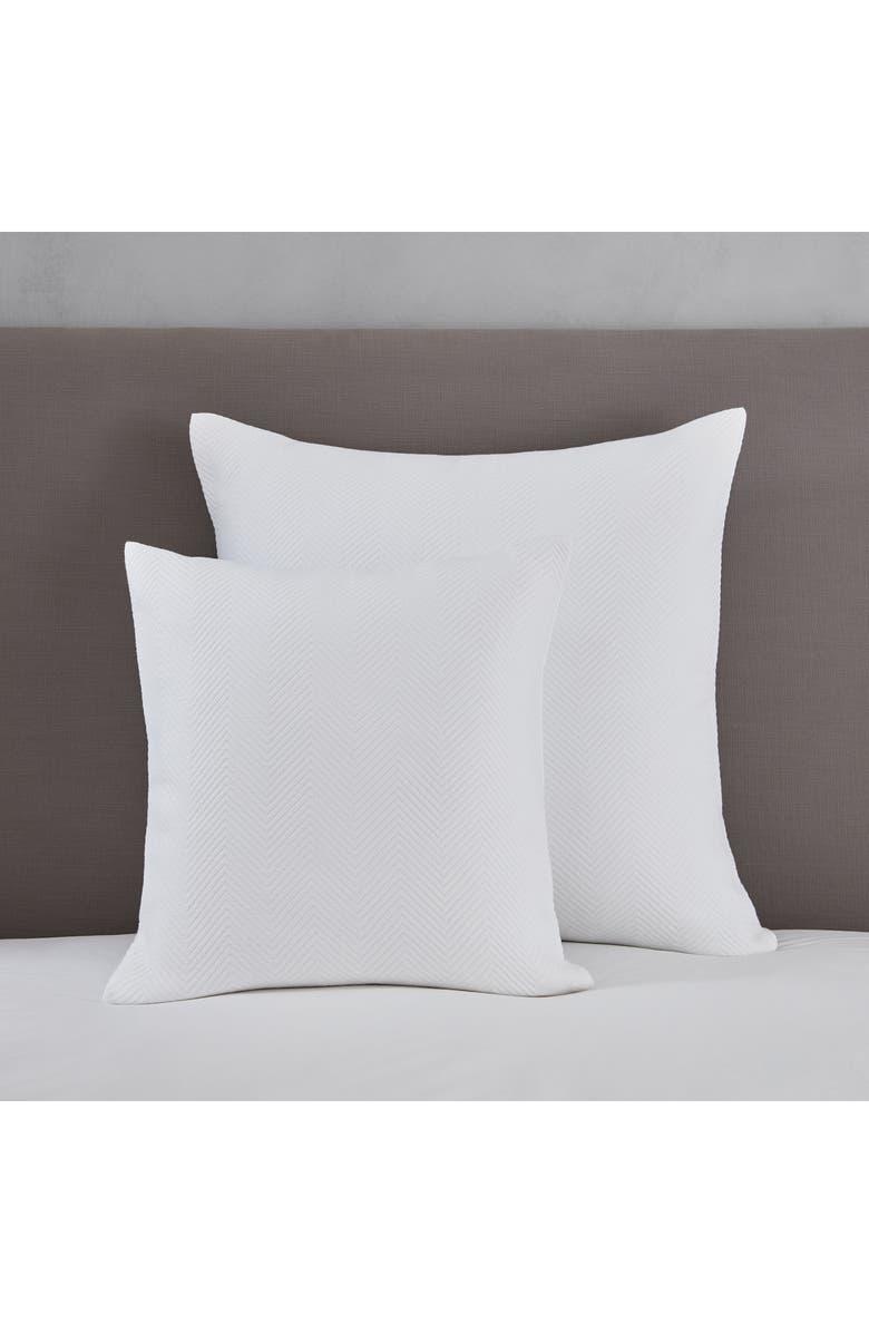 THE WHITE COMPANY Mason Herringbone Cushion Cover, Main, color, WHITE