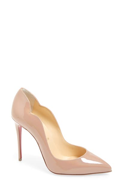 Christian Louboutin HOT CHICK SCALLOPED POINTED TOE PUMP