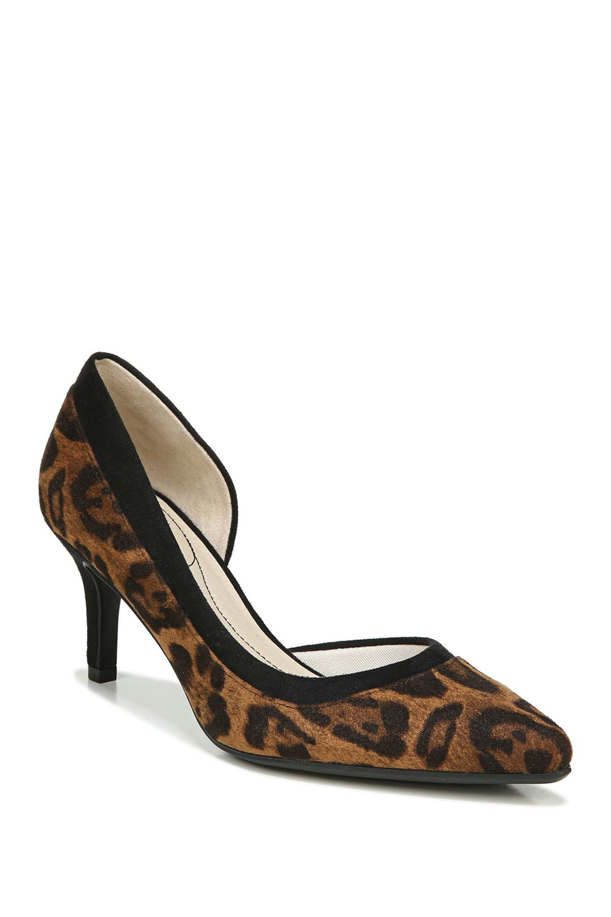 Image of LifeStride Swann Leopard Print d'Orsay Pump - Wide Width Available