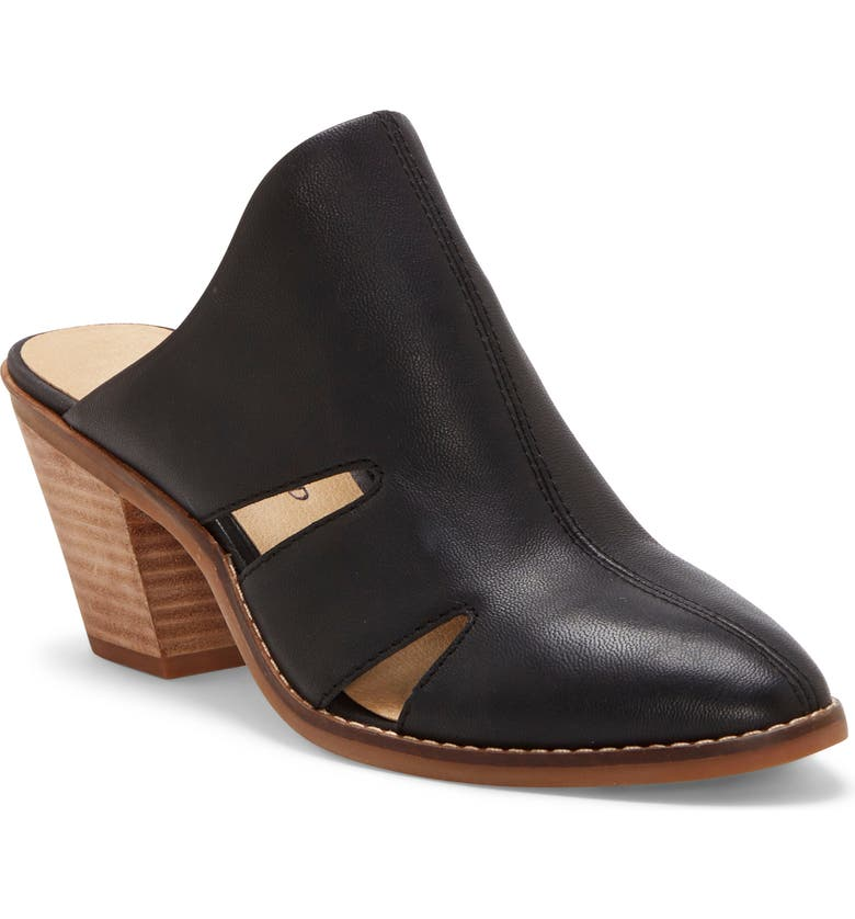 LUCKY BRAND Orinthia Mule, Main, color, BLACK LEATHER