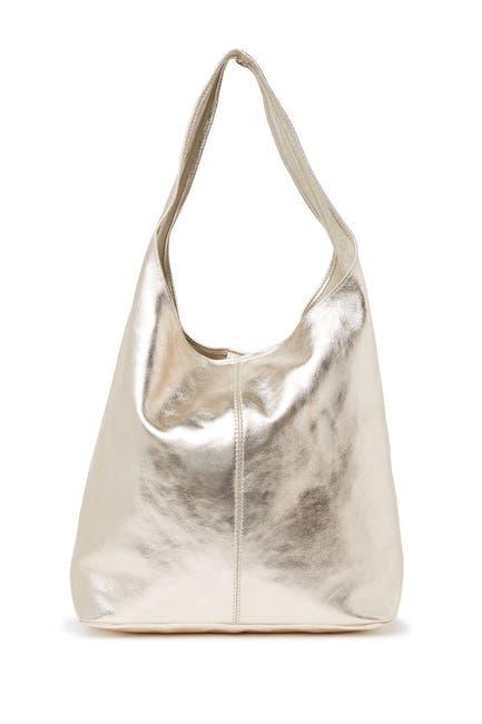 Image of Sofia Cardoni Metallic Leather Hobo Bag