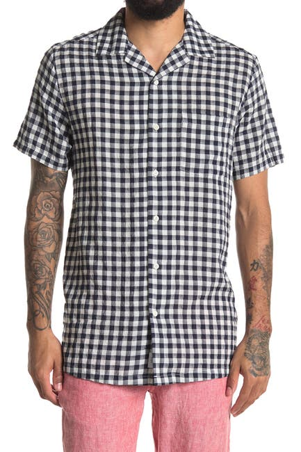 Image of Onia Vacation Gingham Regular Fit Shirt