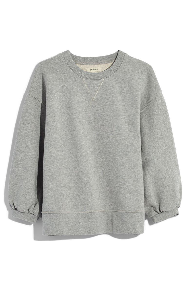 MADEWELL Oversize Sweatshirt, Main, color, HTHR STEEL