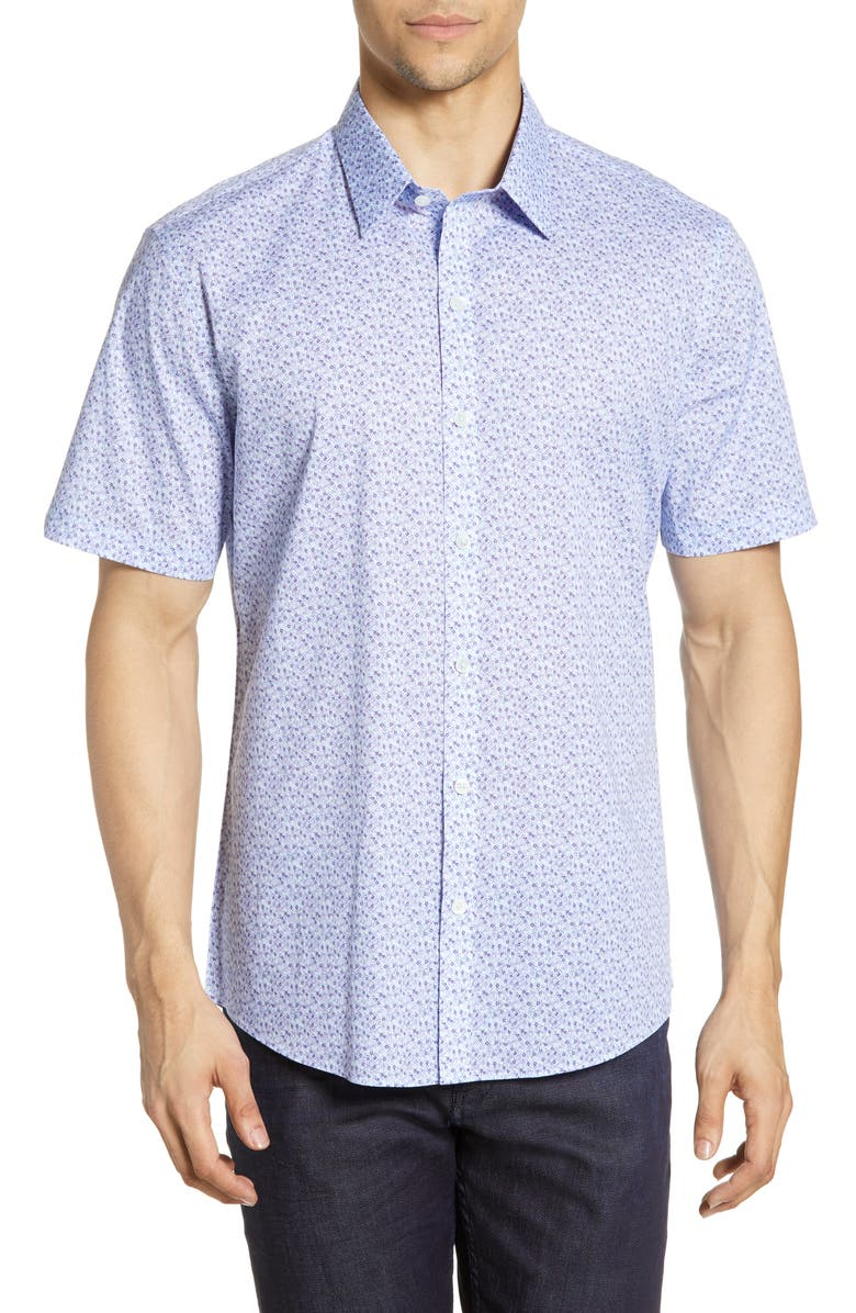 ZACHARY PRELL Shaia Regular Fit Print Shirt, Main, color, 500