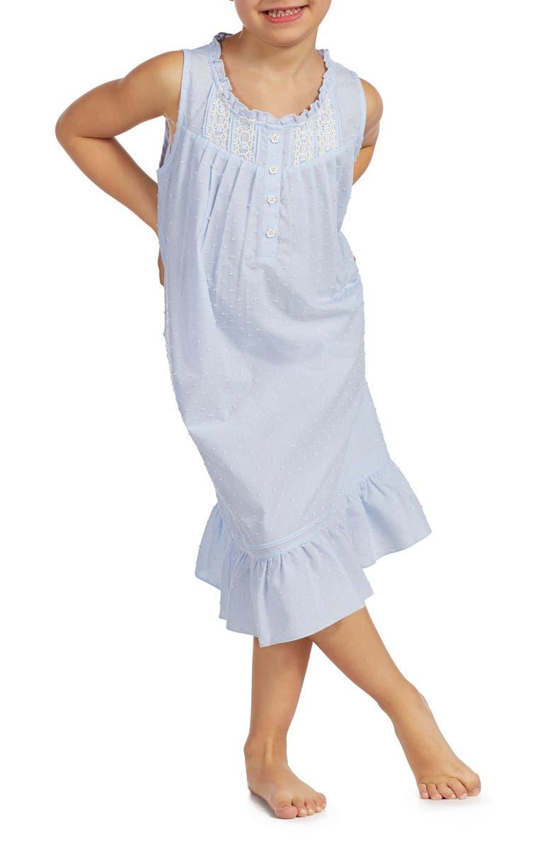 EILEEN WEST Ballet Nightgown, Main, color, LIGHT BLUE