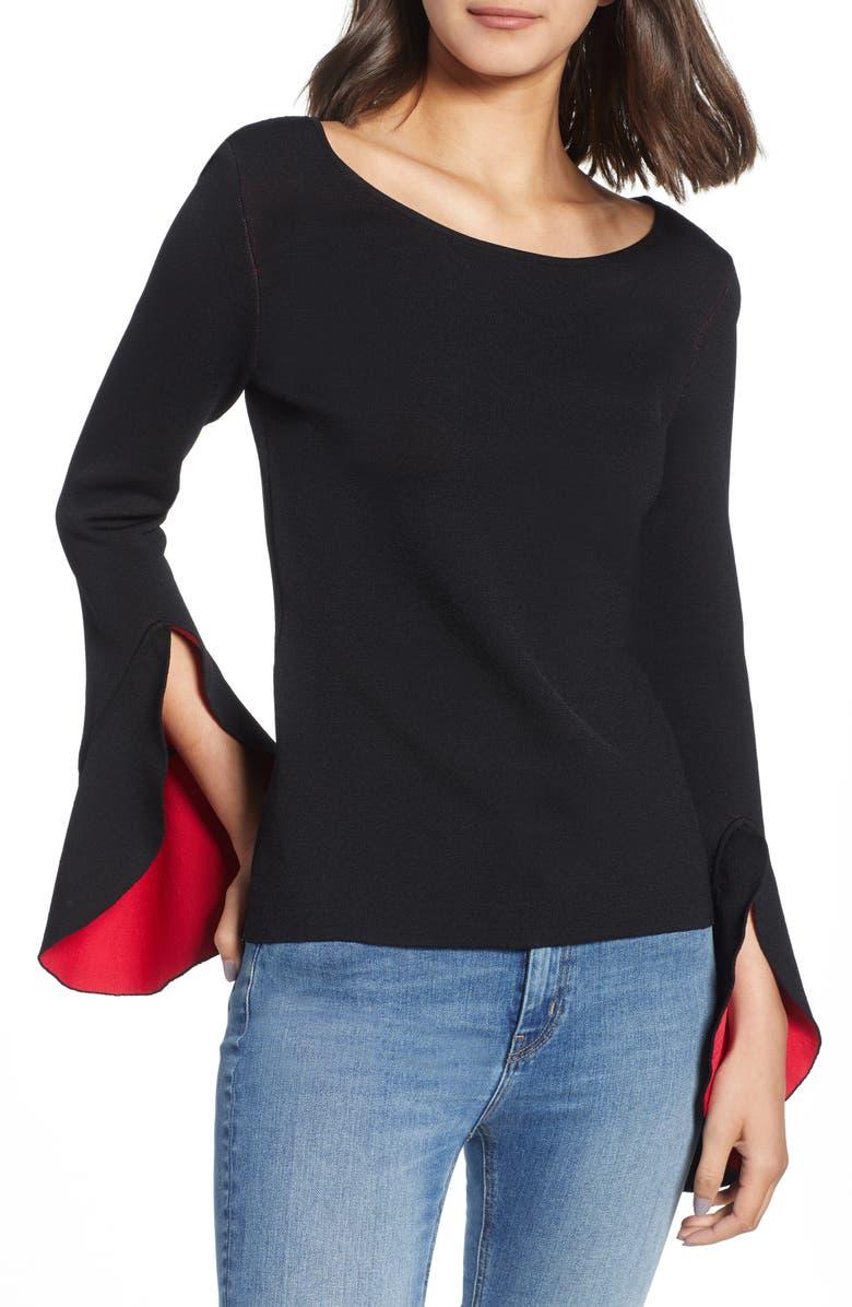 BAILEY 44 Nicholi Bell Sleeve Sweater, Main, color, 009