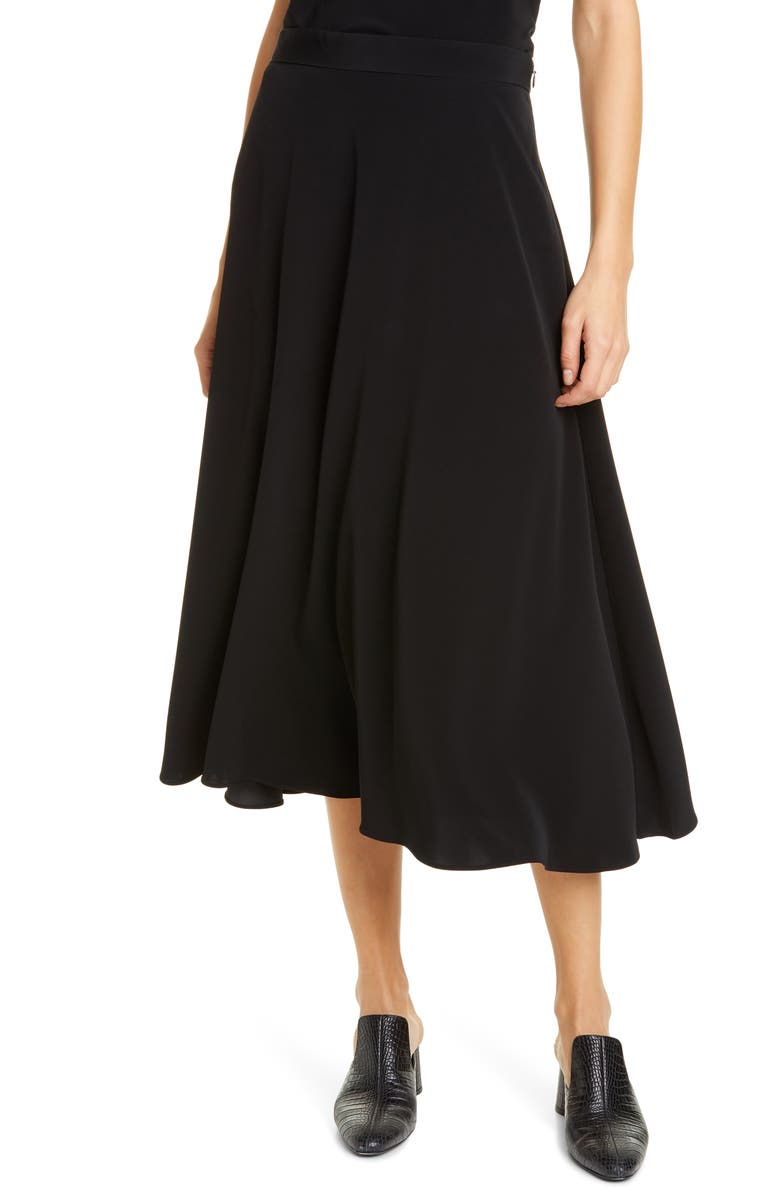 CO Bias Midi Skirt, Main, color, BLACK