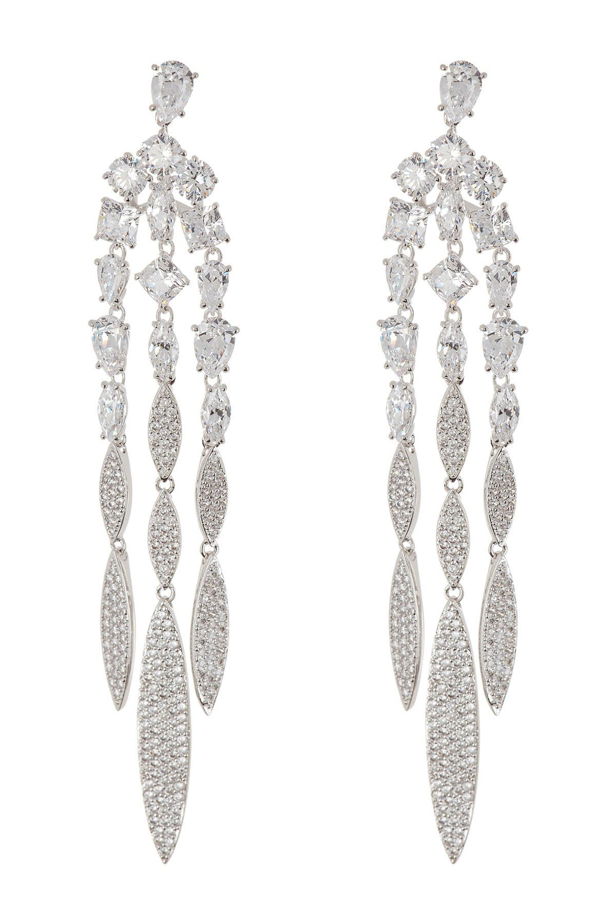 Image of NADRI CZ Chandelier Fringe Earrings