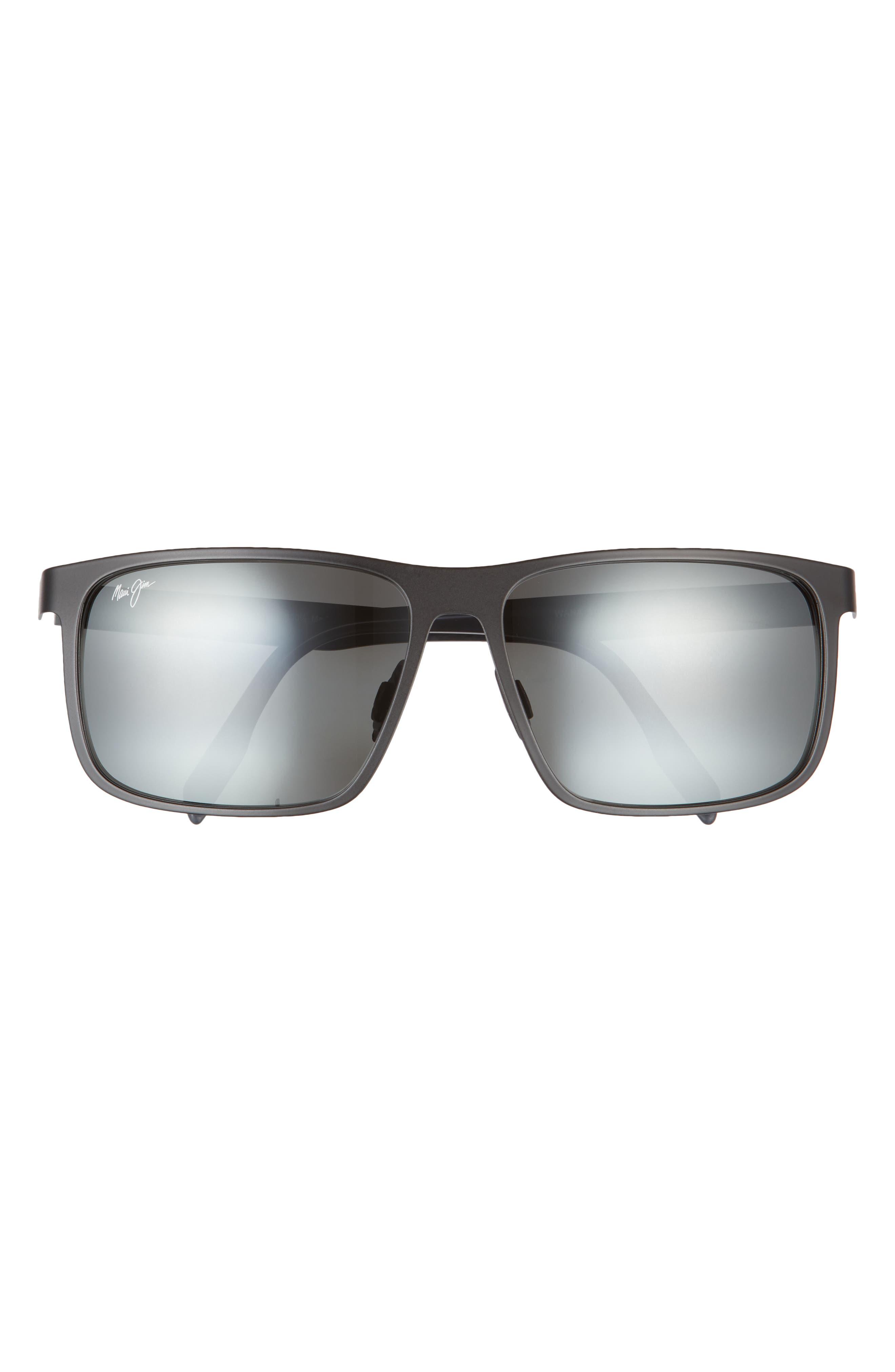 Wana 61mm Polarizedplus2 Rectangle Sunglasses