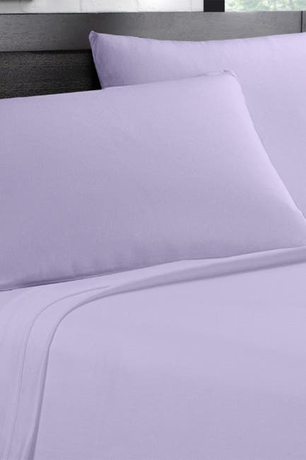 Image of Ella Jayne Sateen 500 Thread Count 4-Piece Sheet Set - Lilac - Queen