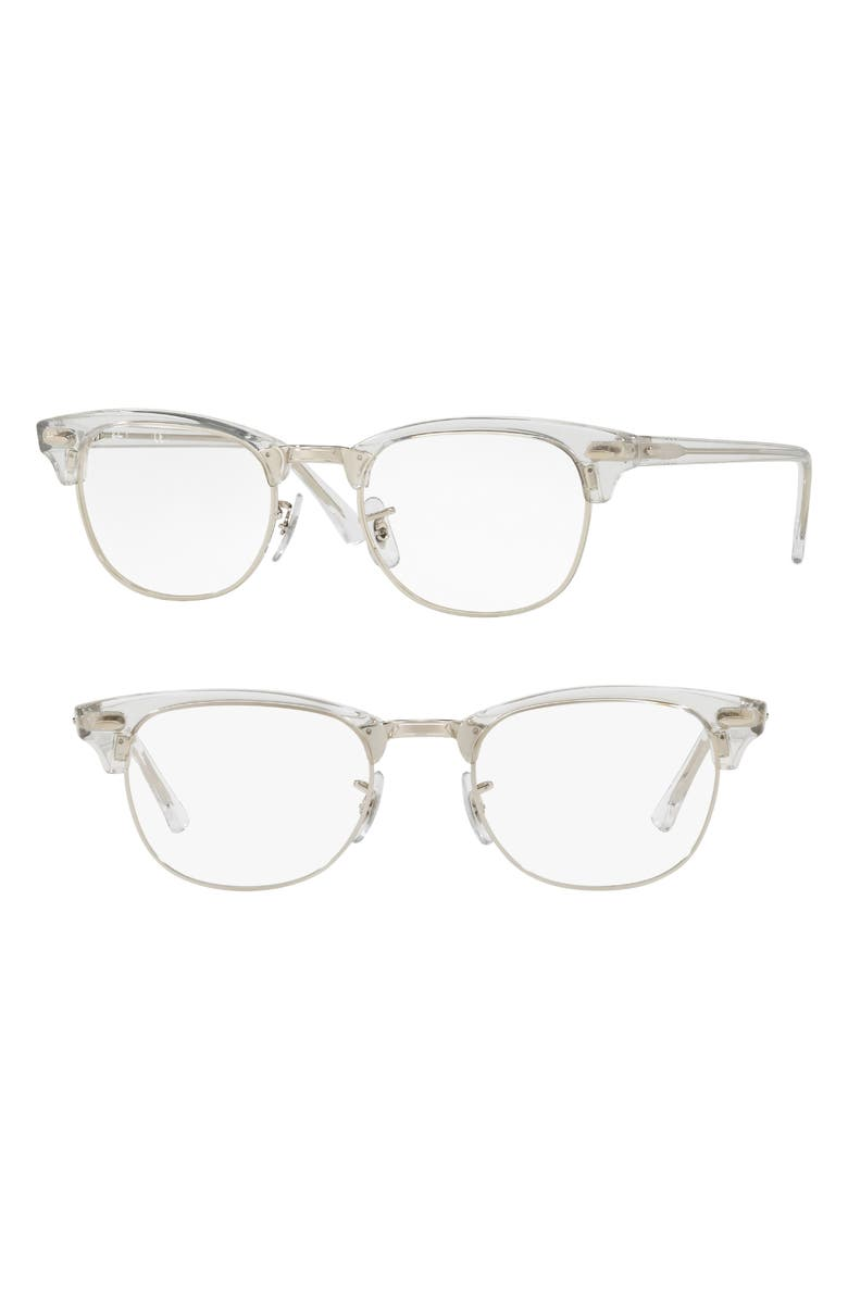 RAY-BAN 5154 51mm Optical Glasses, Main, color, WHITE