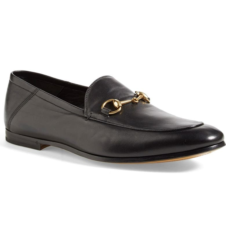 GUCCI Convertible Bit Loafer, Main, color, NERO LEATHER