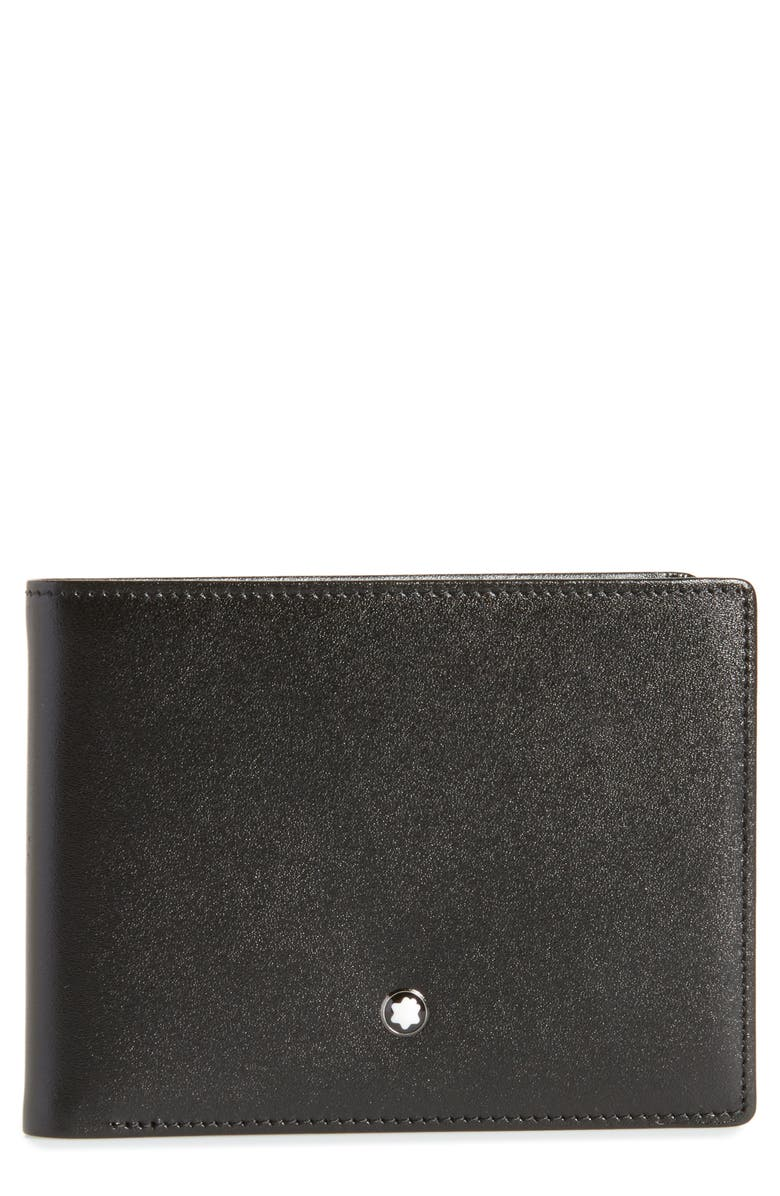 MONTBLANC Bifold Leather Wallet, Main, color, NO COLOR