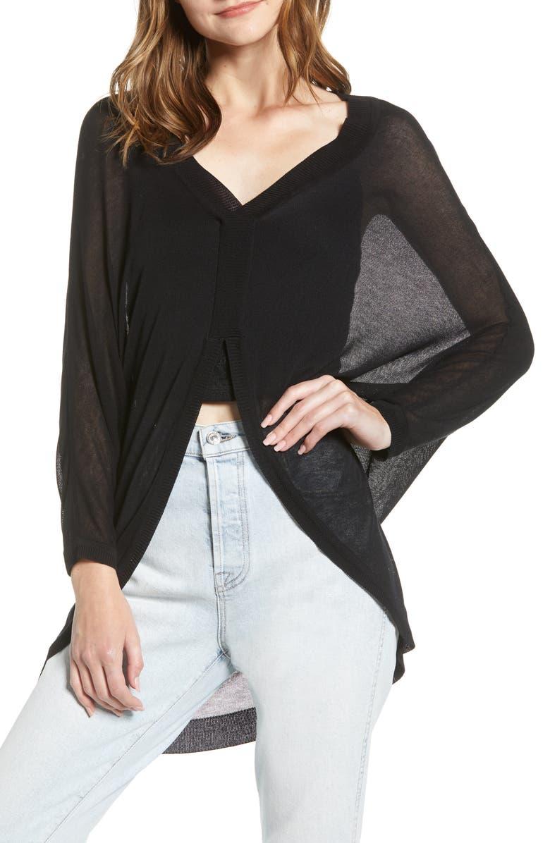 BISHOP + YOUNG Celine Sweater, Main, color, BLACK