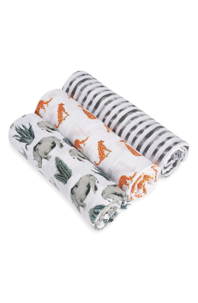 ADEN + ANAIS 3-Pack Classic Swaddling Cloths, Main, color, 034