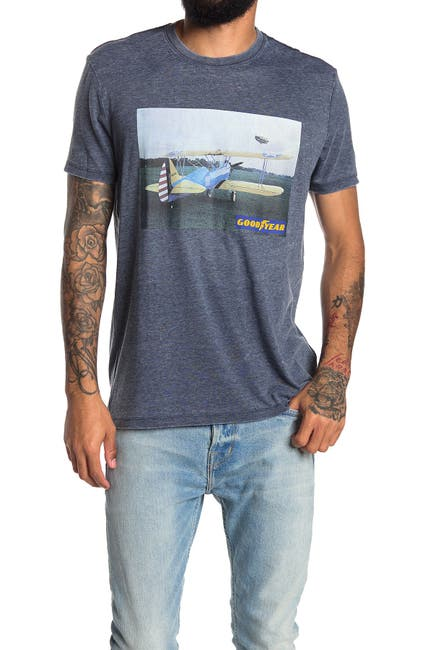Image of Lucky Brand Goodyear Aviation Graphic Tee
