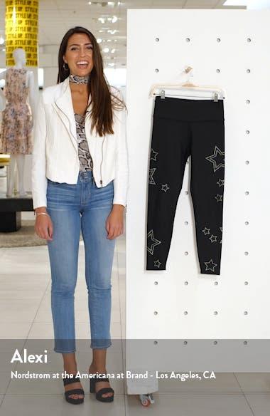 High Waist Star Studded Leggings, sales video thumbnail