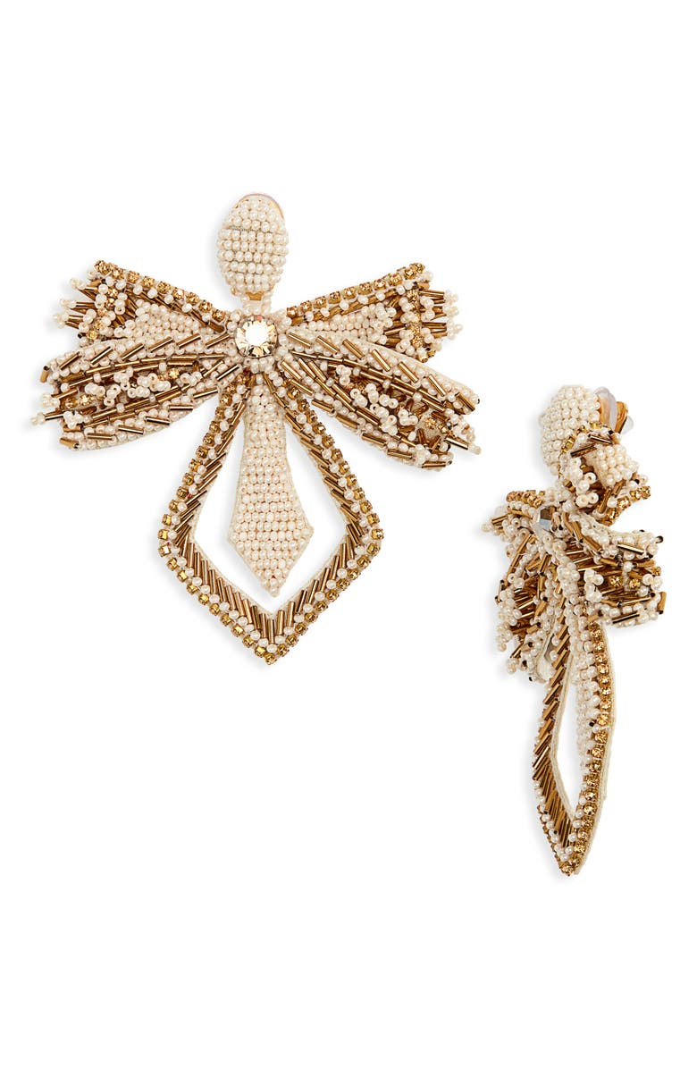 THE ACCESSORY JUNKIE Liberty Earrings, Main, color, WHITE/ GOLD