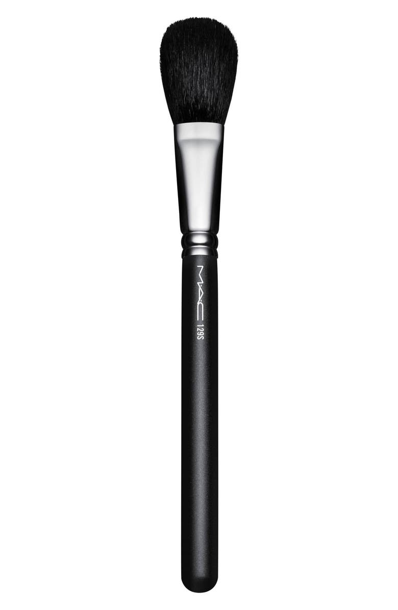 MAC COSMETICS MAC 129S Synthetic Powder/Blush Brush, Main, color, NO COLOR